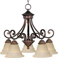 Maxim 11176 Brighton 5 Light Single-Tier Chandelier Oil Rubbed Bronze Indoor Lighting Chandeliers