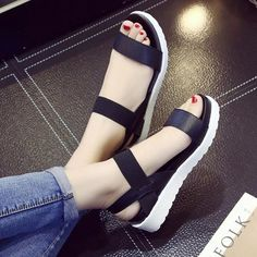 Summer shoes Hot Selling sandals women 2017 peep-toe flat Shoes Roman sandals Women shoes sandalias mujer sandalias high quality - Women's style: Patterns of sustainability Peep Toe Flats, Open Toe Shoes, Flat Shoes, Fashion Sandals, Women's Shoes Sandals, Gladiator Sandals, White Sandals, Beach Sandals, Strappy Sandals