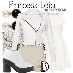 Princess Leia by leslieakay on Polyvore featuring polyvore fashion style IRO Sol Sana rag & bone Brahmin Kenneth Jay Lane disney disneybound starwars disneycharacter