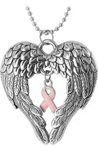 Wings of an Angel Pink Ribbon Necklace Breast Cancer Support, Breast Cancer Survivor, Breast Cancer Awareness, Save The Tatas, Go Pink, Pink Power, Ribbon Necklace, Tattoos, Accessories