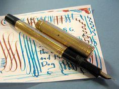 vtg Fountain Pen 18K R.G. Overlay Semi Flex Wahl Eversharp Gold Nib vtg Flexible #wahl