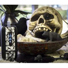 Happy Halloween from the Ascent vaporizer Black Skulls