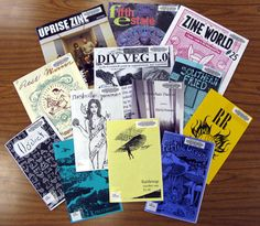 A pile of zines