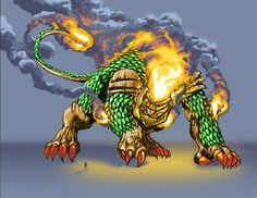Firelion, a rejected new monster for Godzilla: Unleashed