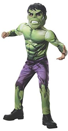 Rubies Marvel Universe Classic Collection Avengers Assemble Deluxe Incredible Hulk Costume Child Large by Rubie's. Bedruckter Overall mit gepolsterter Brust und Armen . Hulk Halloween Costume, Halloween Costumes For Kids, Cool Costumes, Link Halloween, Costume Ideas, Halloween Party, Marvel Avengers Assemble, Hulk Avengers, Age Of Ultron