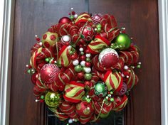 Another Whimsical Christmas Wreath by HertasWreaths on Etsy