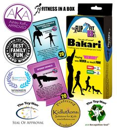 #Fitness Memory Game - Bakari!  Multi Award Winning!  Creating Healthy Lifestyles with the flip of a card!