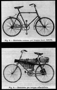 Bianchi 1912 military folding bike