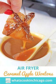 Air Fryer Caramel Apple Wontons Best Apple Recipes, Apple Dessert Recipes, Favorite Recipes, Ww Desserts, Fall Desserts, Fall Recipes, Carmal Apples, Apple Cinnamon Rolls, Homemade Apple Pie Filling