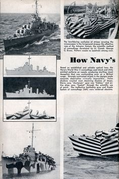 What I Dazzle? The father of camouflage, Abbott Thayer de cribed animal coloration a a way to conceal or di rupt an object. Dazzle i di ruptive Dazzle Camouflage, Camouflage Patterns, Art Society, Razzle Dazzle, Navy Ships, Royal Navy, Battleship, New Tricks, Op Art