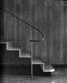 """""""Murano spent eleven years at Watanabe's office learning all aspects of design and working on many large projects. Staircase Handrail, Interior Staircase, Modern Staircase, Stair Railing, Staircase Design, Staircases, Metal Handrails, Steel Handrail, Architecture Details"""