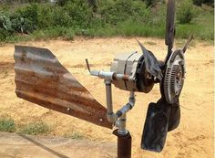 finished generator using a truck alternator. Instructions here: http://www.homesteadnotes.com/build-a-wind-generator-using-a-truck-alternator/2/