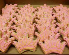 Princess Cookies Princess Birthday Pink and Gold First
