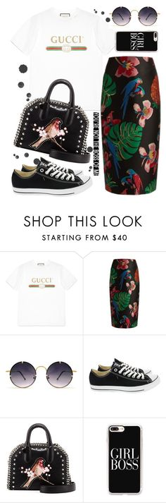 """""""Gucci T-Shirt"""" by kitty-kat9 ❤ liked on Polyvore featuring Gucci, Valentino, Spitfire, Converse, STELLA McCARTNEY, Casetify and gucci"""