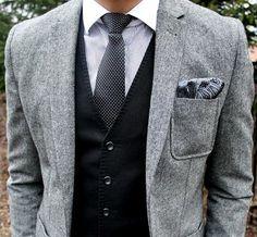 Gray Wool Patch Pocket Blazer