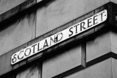 Scotland Street sign in Edinburgh