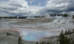 The east side of Porcelain Basin, Norris, Yellowstone National Park, WY