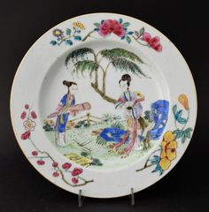 A Very Rare 18th Century Dutch Decorated Dish and The Smaller Yongzheng Dish Prototype | R & G McPHERSON ANTIQUES