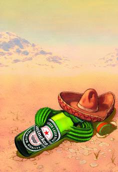 Heineken mexican poster