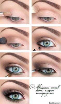 красивый макияж для зеленых глаз