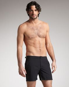 Bulldog Swim Shorts, Black by Orlebar Brown at Bergdorf Goodman.