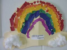 rainbow tear art activity for letter r week preschool