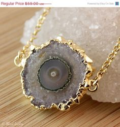 SALE Amethyst Stalactite Connector Necklace  14K GF  by OhKuol, $47.20