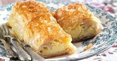 Γαλακτομπούρεκο πολίτικο από την Αργυρώ Μπαρμπαρίγου | Φτιάξτε υπέροχο, τρεμουλιαστό και απολαυστικό γαλακτομπούρεκο με πολίτικο φύλλο! Spanakopita, Cheese, Ethnic Recipes, Food, Desserts, Tailgate Desserts, Deserts, Essen, Postres