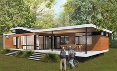 Micro-maison préfabriquée / contemporaine / en bois / de plain-pied ...