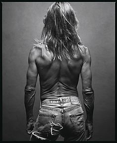 "Iggy Pop, Miami, Florida, by Annie Leibovitz. Photo included in Leibovitz' ""American Music"" collection."