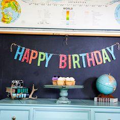 Gold Polka Dot Happy Birthday Banner + 7 More Free Birthday Printables
