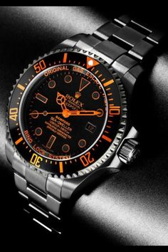 Rolex Sea Dweller. Gorgeous. So out of my price range. It would look great on my man! It's the thought that counts ♡