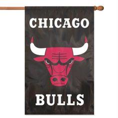 NBA Chicago Bulls Applique Banner Flag