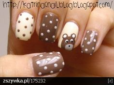 polka dots and bear!