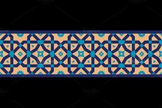 Arabic Floral Seamless Border Graphics Arabic Floral Seamless Border. Includes an editable eps file, Hi Resolution (15 MP) jpg, and ai file by Azat1976