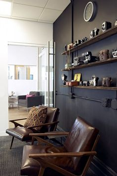 The Chic And Trendy Foursquare Headquarters From Soho- camera wall