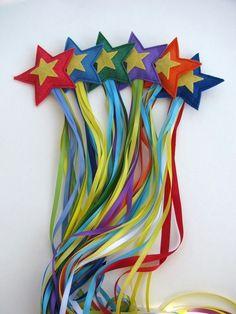Felt & ribbon shooting stars