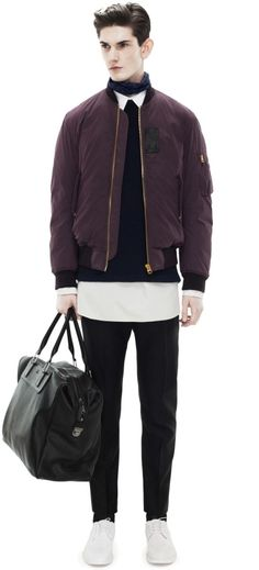 Sid Dark Wine bomber jacket, Acne Studios