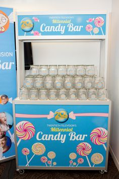 Twentieth Television's Millennial Candy Bar: A different kind of bar was an attraction at the television company's recent campaign. Produced by the Michael Alan Group, the activation set up candy bars in New York at 12 media agencies. Employees were invited to grab plastic jars and fill them up with candies including Junior Mints and Sour Patch Kids for an afternoon break.