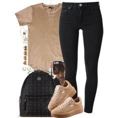 A fashion look from November 2015 by isabellacamaylaneverson featuring Acne Studios, MCM, mizuki, Zoë Chicco, Maison Margiela and MAC Cosmetics Black Girl Fashion, New Fashion, Fashion Models, Womens Fashion, Fashion Trends, Disney Fashion, Fashion Killa, Lit Outfits, Dope Outfits