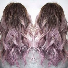 Brunette to lilac ombré More