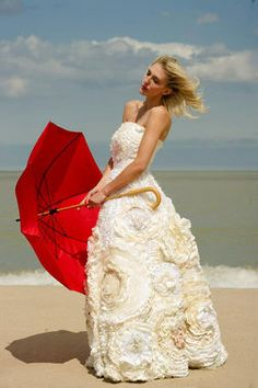 Bohemian Wedding Dress - Flower Wedding Dress - One of a Kind - Flora Gown - Avail & Company, LLC