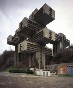 Советская архитектура будущего глазами французского фотохудожника (12фото)