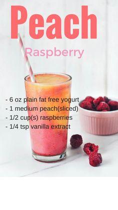Peach Raspberries smoothies