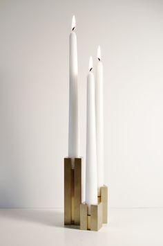 Handmade Brass Candlestick Holder Set