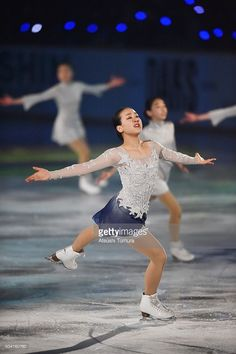 Mao Asada of Japan performs her routine during the NHK Special Figure Skating Exhibition at the Morioka Ice Arena on January 9, 2016 in Morioka, Japan.
