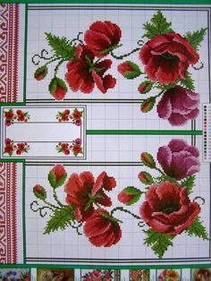 Cross Stitch ucraniano Bordado patrones de flor Mantel Almohada Servilleta 7 Uz