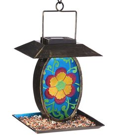 Take a look at the Vintage Floral Solar Hanging Bird Feeder on #zulily today!