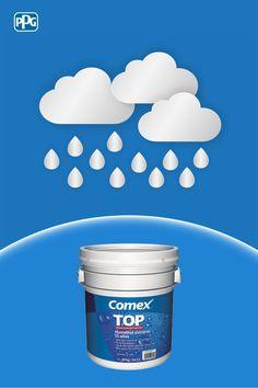 Proteger tus techos de las lluvias es sencillo y duradero cuando tu aliado es Top Humedad Extrema15 años: nuestro impermeabilizante premium acrílico base agua.  #ProductosComex #Comex #Colorful #Ideas #Proteccion #House #Inspiration #Superficies #Home #DIY