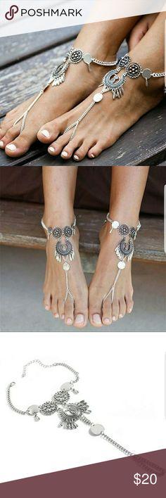 Retro Boho Sandal Beach Anklet Retro Boho Sandal Beach Anklet Foot Chain Barefoot Bracelet. This is for 1 item. Jewelry Bracelets